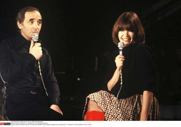 Avec Catherine Allegret en 1978