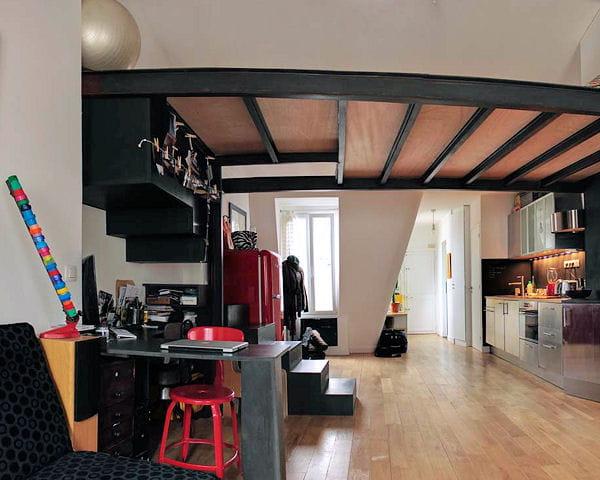 mini loft tout en longueur. Black Bedroom Furniture Sets. Home Design Ideas