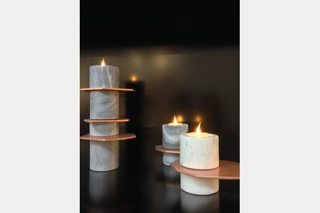 Bougies à LED Arik Levy chez Forestier