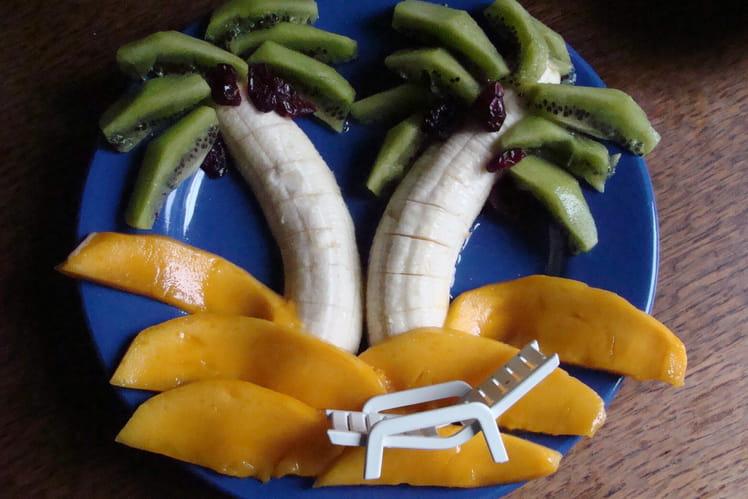 Banane, kiwi et mangue façon île paradisiaque