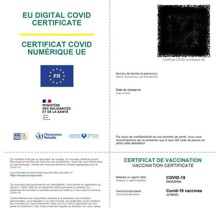 attestation de vaccination pour voyager