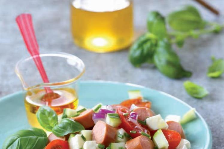Salade craquante aux Knacki®, tomates cerises et burrata