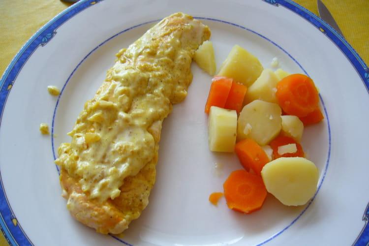 Escalopes de saumon au curry