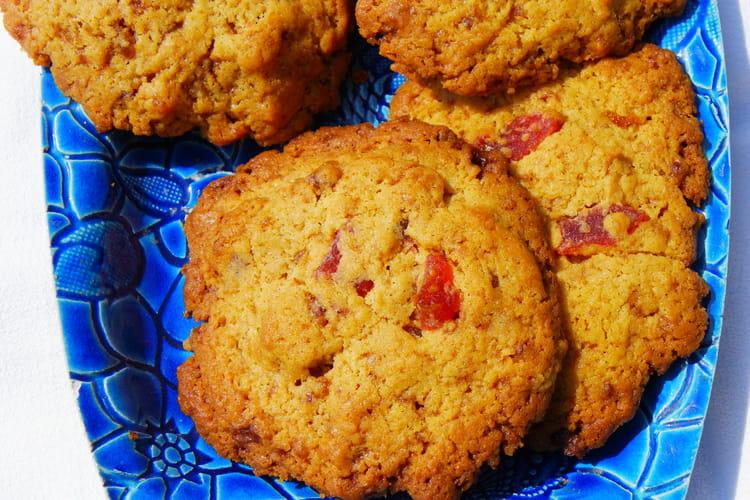 Cookies aux fraises séchées