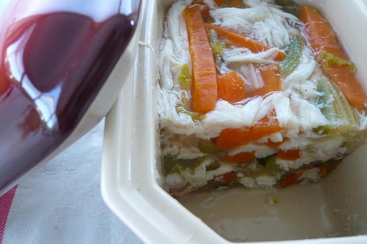 Terrine de raie et petits légumes
