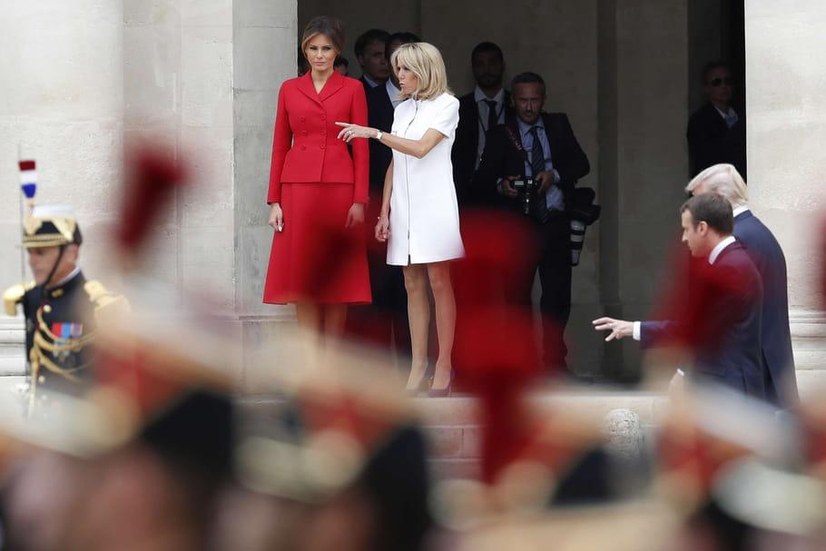 Brigitte Macron et Melania Trump à Paris, premières dames à la french touch