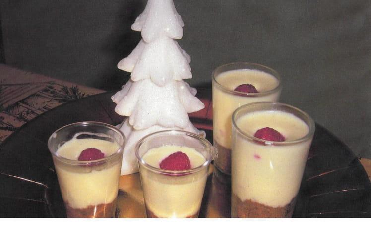 Cheesecake en verrines aux framboises