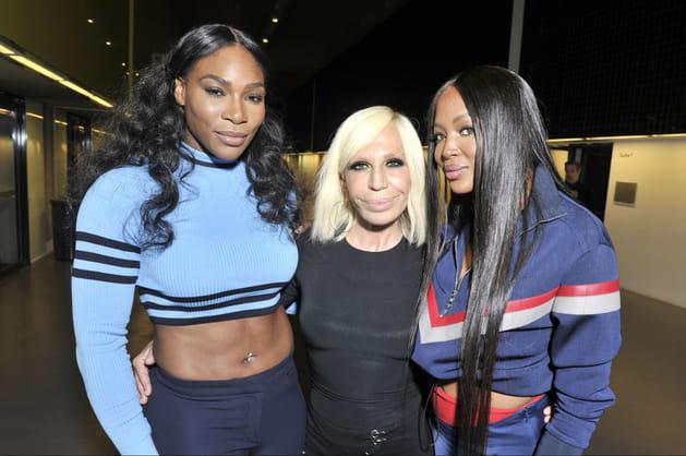 Serena Williams, Donatella Versace et Naomi Campbell