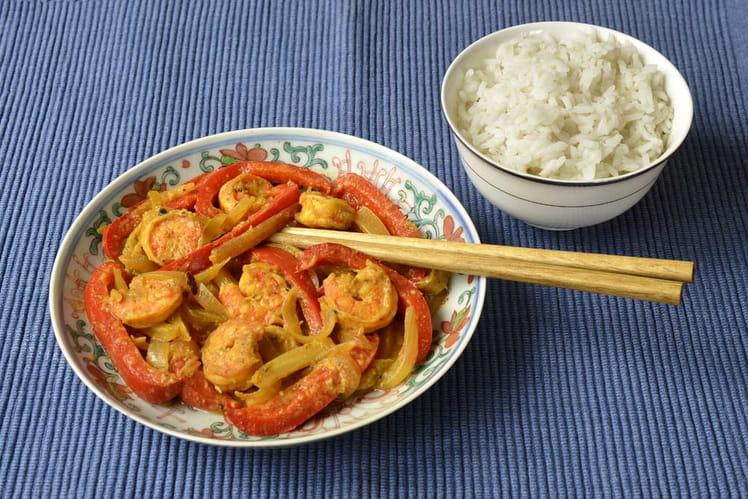 Crevettes aux épices