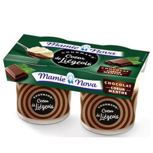 coeur de liègeois menthe crème chocolat