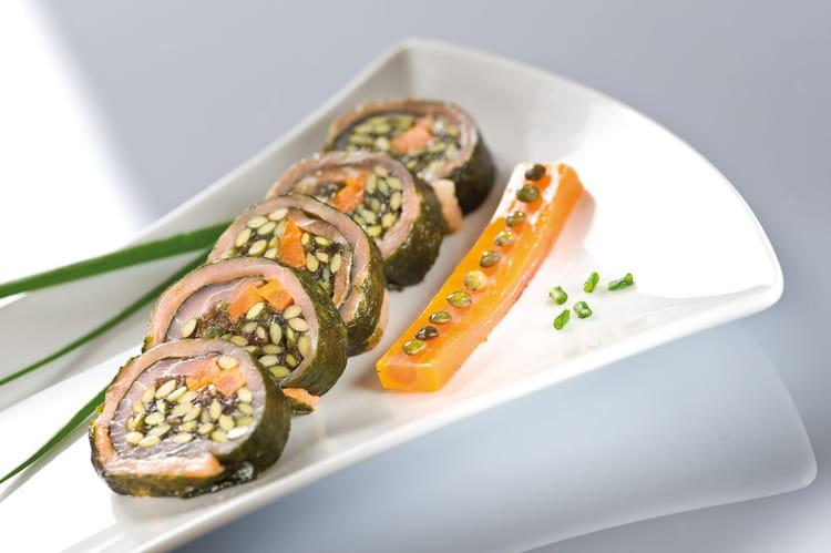recette de sushi de lentilles vertes du puy et saumon fum la recette. Black Bedroom Furniture Sets. Home Design Ideas