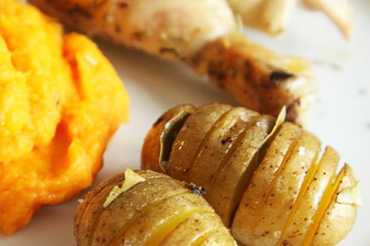 Pommes de terre à la suédoise au laurier et à l'ail