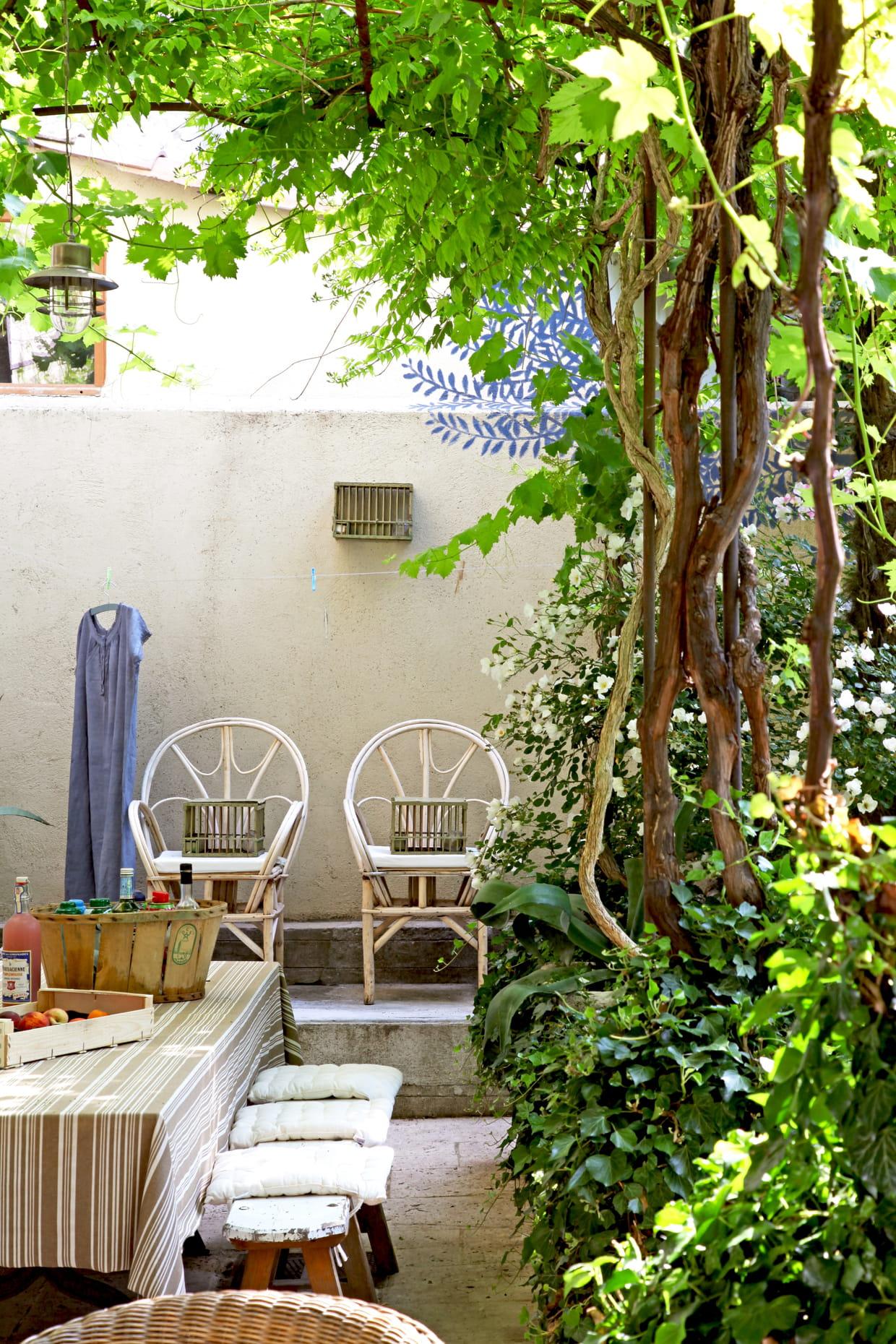 boh me au jardin. Black Bedroom Furniture Sets. Home Design Ideas