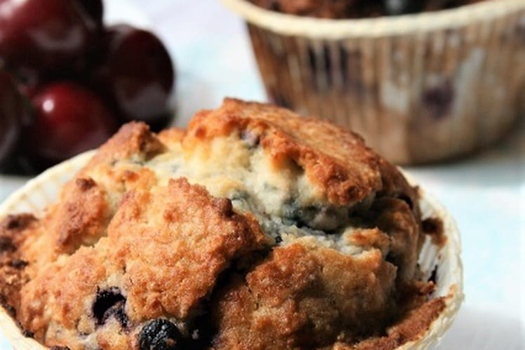Muffins myrtilles et noix de coco