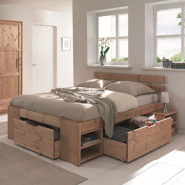 le lit rangements astucieux. Black Bedroom Furniture Sets. Home Design Ideas