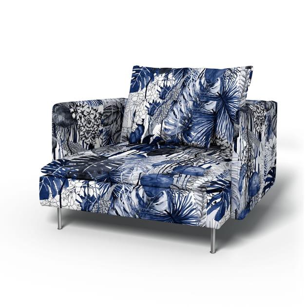 Fauteuil Soderhamn IKEA Habillé Du Tissu Jardin ExoChic - Ikea fauteuil tissu