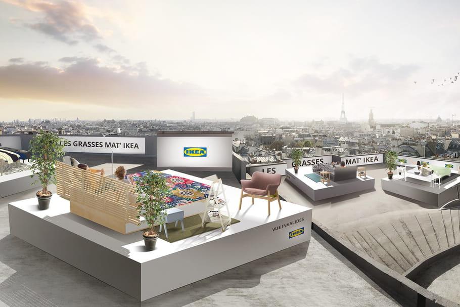 Grasses mat' IKEA: et si on piquait un somme sur les toits de Paris?