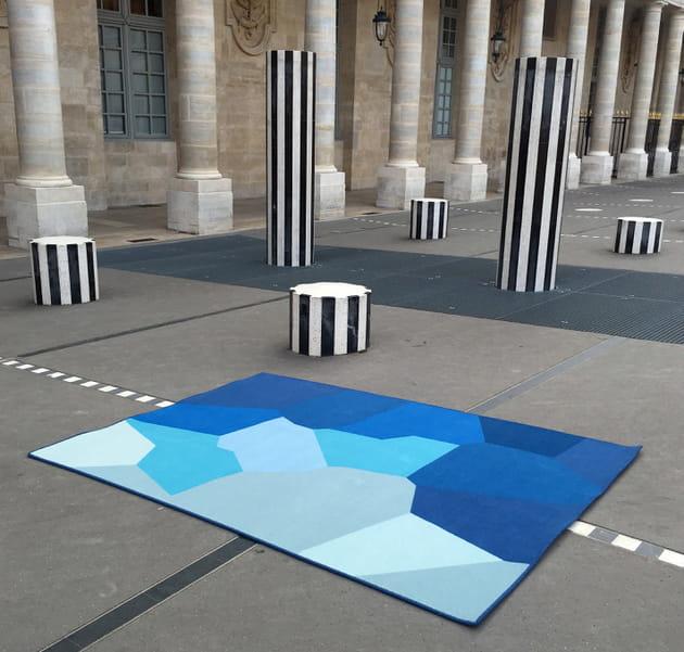 Tapis Blue Witness par Sandrine Alouf