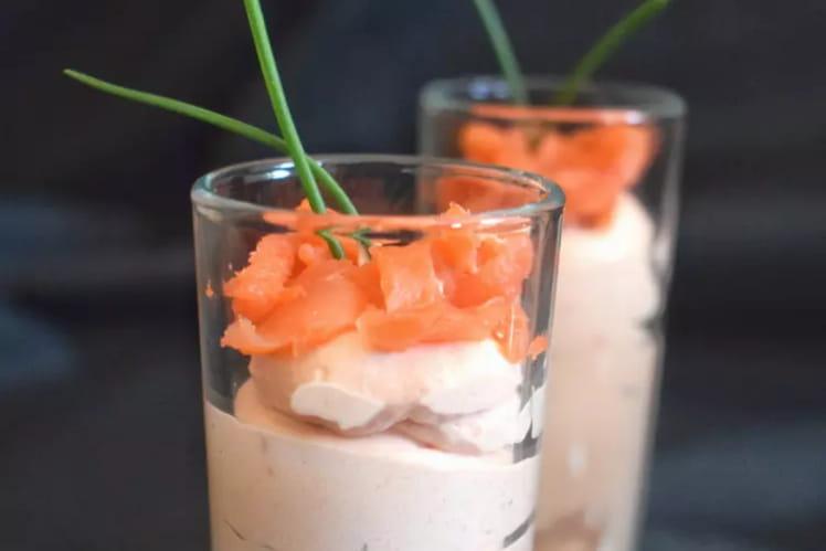 Mousse de saumon à la ciboulette