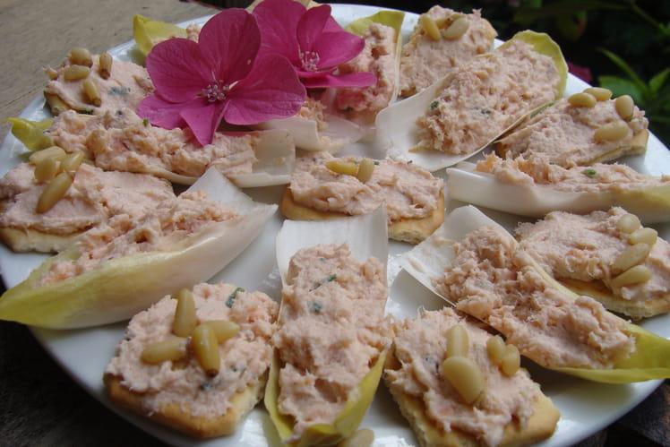Rillettes aux deux saumons ciboulette citron vert