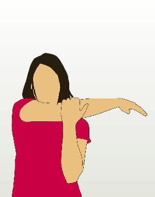 un exercice pour étirer les muscles de votre bras.