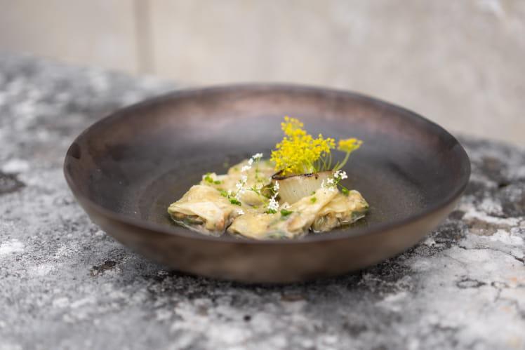 Ravioles de poulet rôti par Alessandra Montagne