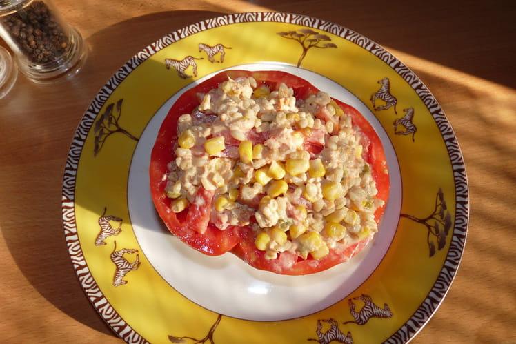 Salade de blé en tomate