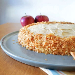 gâteau de crêpes mousse au caramel beurre salé
