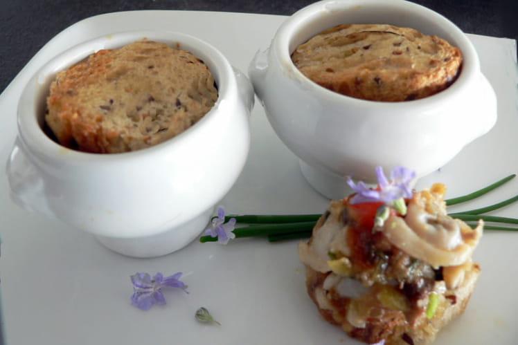 Petites marmites de palourdes aux croutons