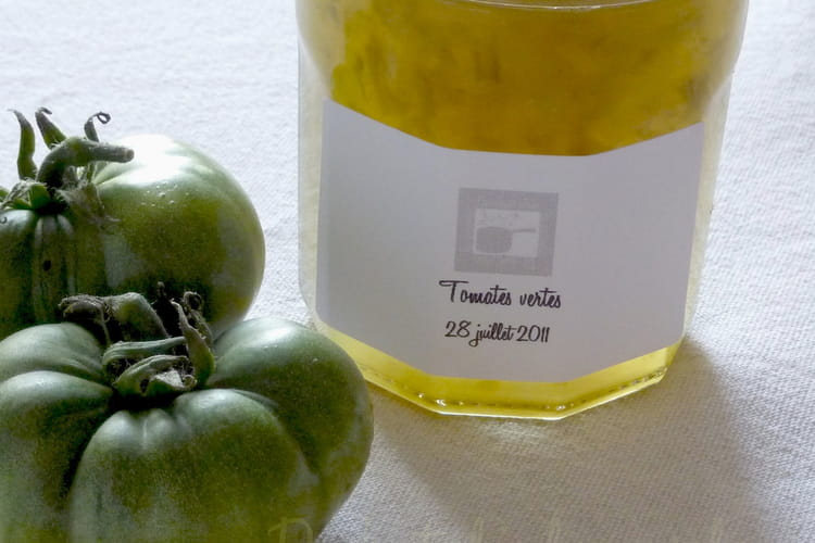 Confiture de tomates vertes au Cognac