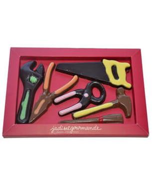 boîte à outils en chocolat de jadis et gourmande