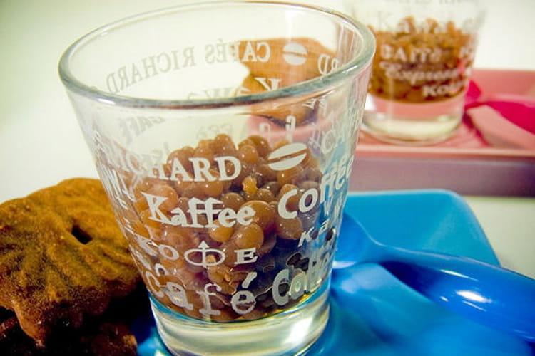 Perles de café et speculoos