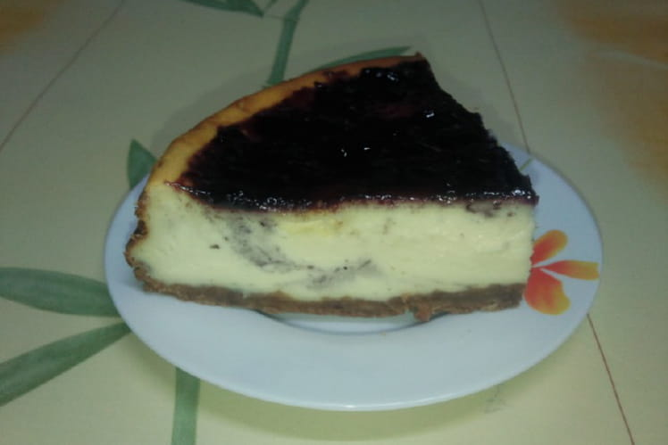 Cheesecake à la confiture de myrtilles