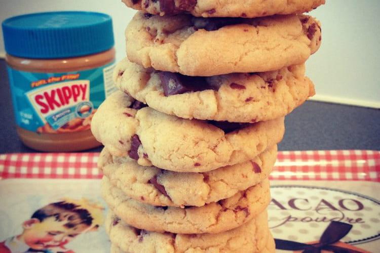Cookies au beurre de cacahuète et chocolat au lait