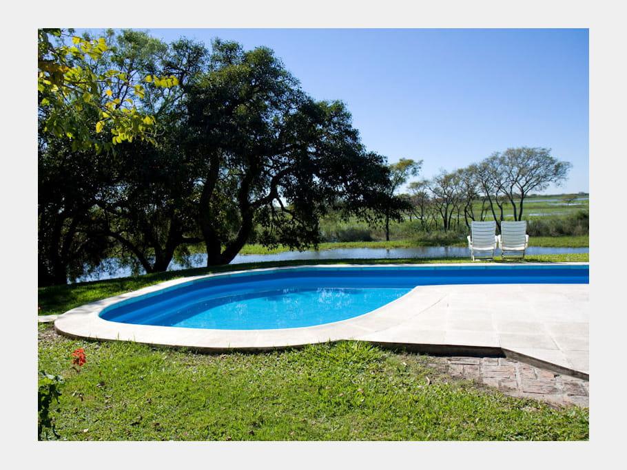 Piscine en pleine nature une maison de campagne r nov e - Peut on se baigner dans une piscine trouble ...