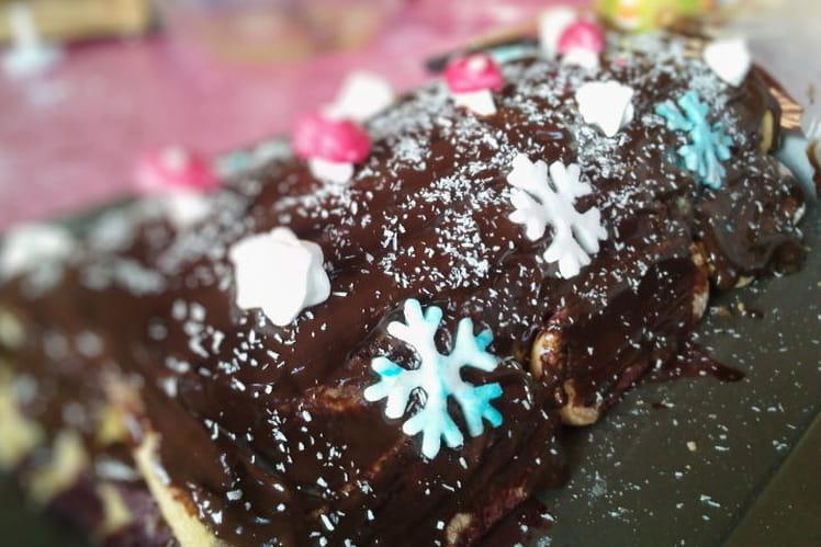 Bûche chocolat-mûres