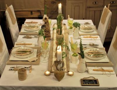 table 'lin et ficelle'