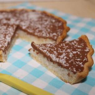 tarte chocolat coco, façon bounty