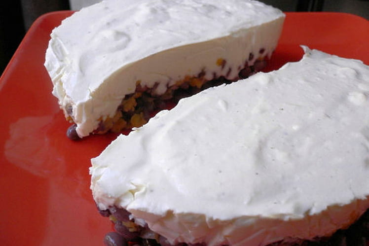 Cheesecake d'haricots azukis aux fines herbes