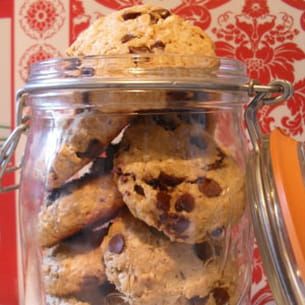 cookies au beurre de cacahuètes, avoine et chocolat