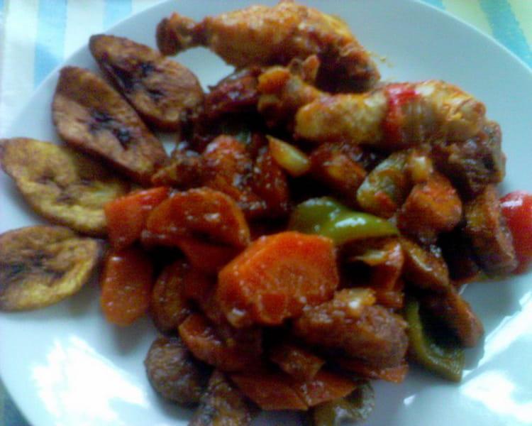 Recette de poulet dg la recette facile - Recette de cuisine camerounaise ...