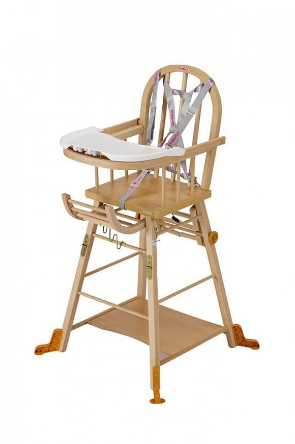 Chaise haute en bois Combelle