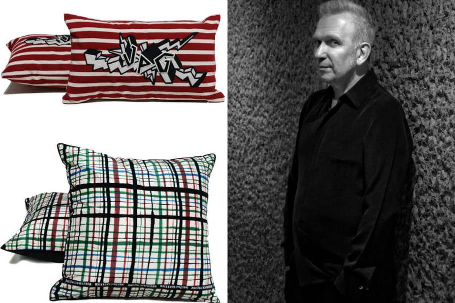 Jean Paul Gaultier X Roche Bobois : des coussins au look pop et urbain
