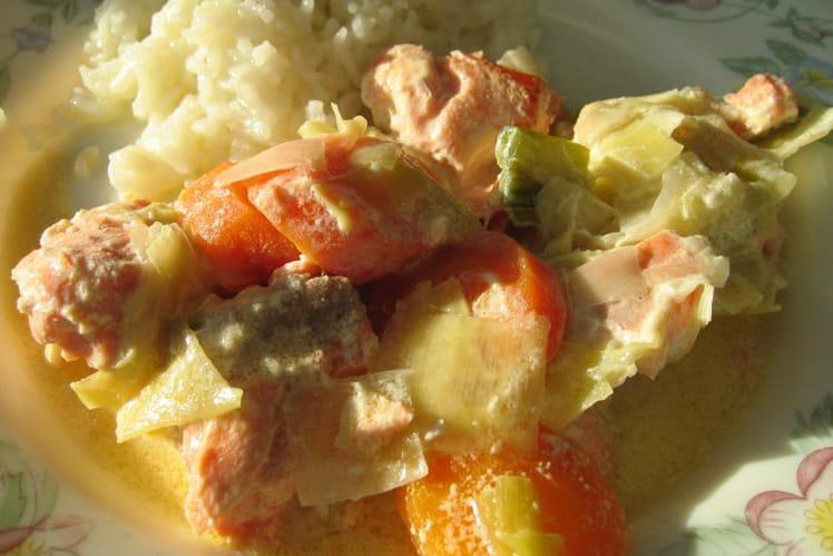 Marmite de saumon aux poireaux