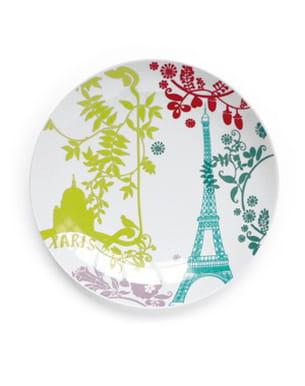 assiette 'paris en couleurs' de l'atelier lzc
