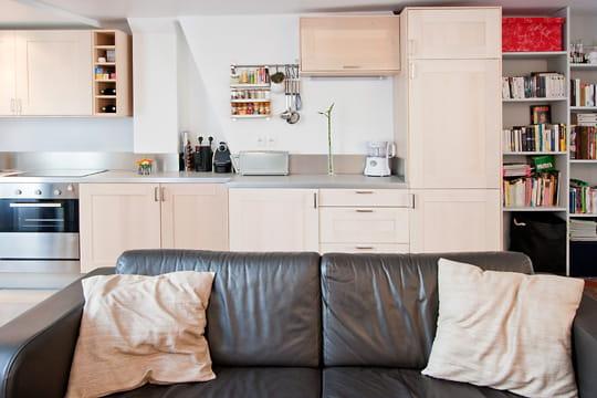 Appartement XVIIIe modernisé par MyHomeDesign : cuisine déco