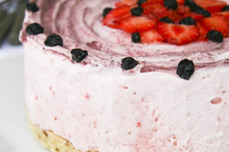 Entremets glacé aux fraises