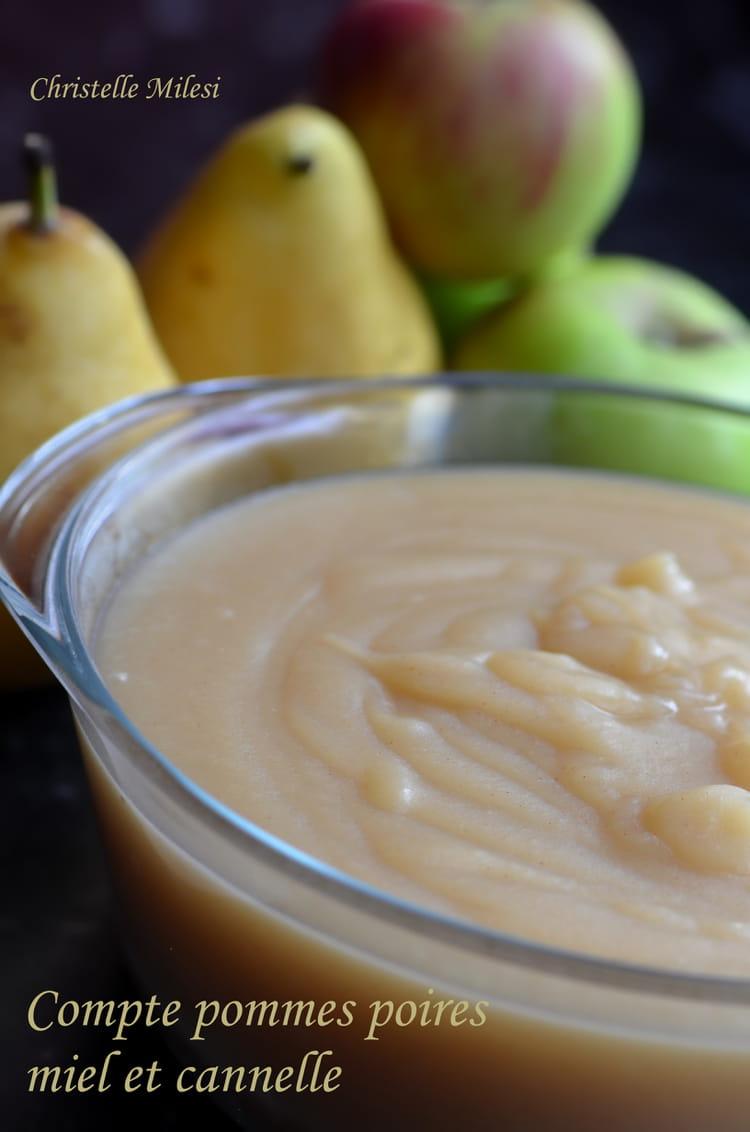 recette de compote pommes poires miel et cannelle la recette facile. Black Bedroom Furniture Sets. Home Design Ideas