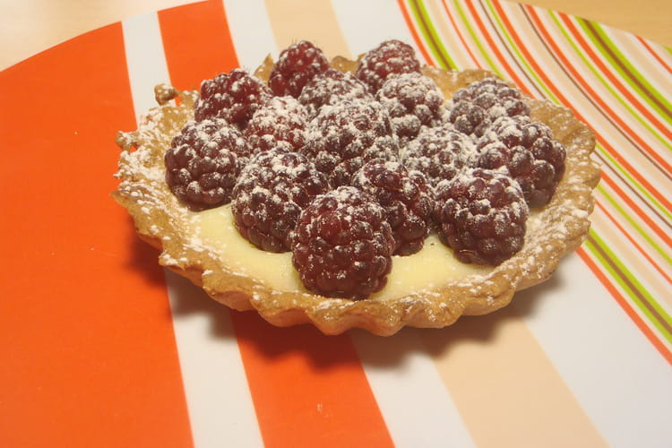 Tarte chocolat blanc framboises