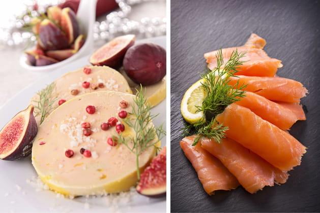 Foie gras ou saumon fumé?